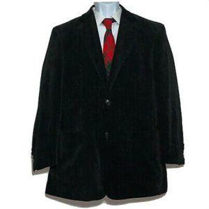 Dolce & Gabbana Black Corduroy Blazer Sport Coat